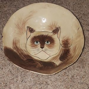 Grumpy cat bowl
